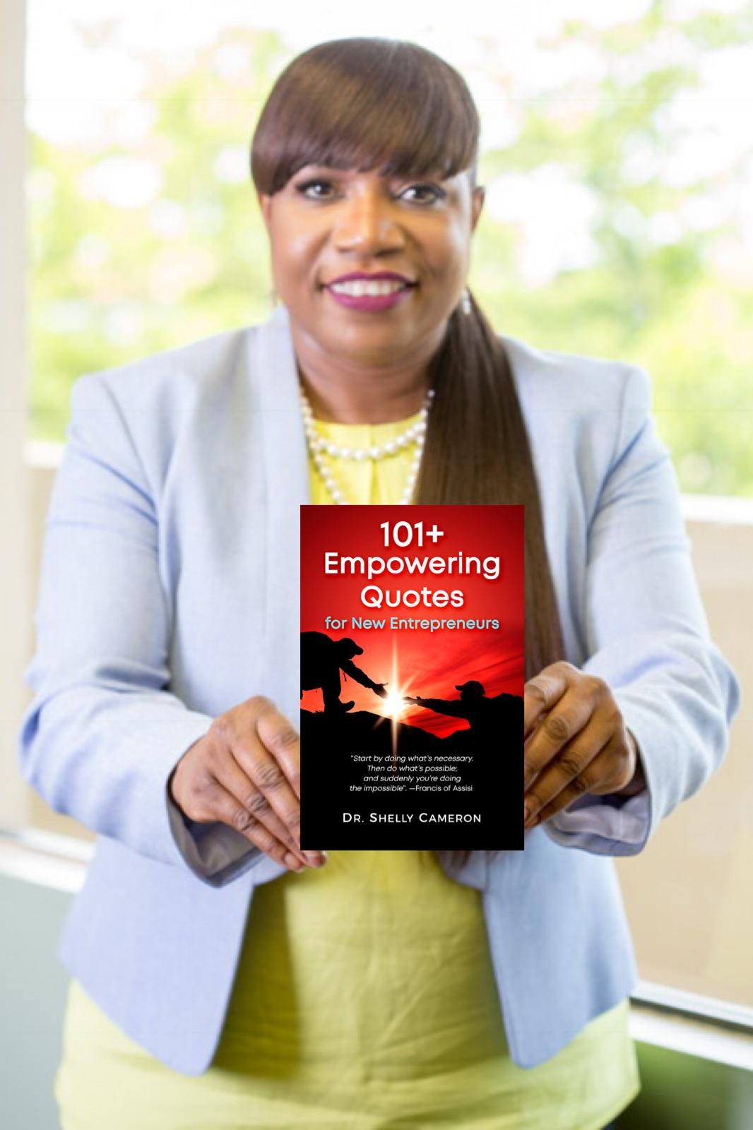 shelly with empowering book